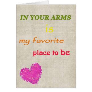 My Favorite Place Elegant Valentine Card
