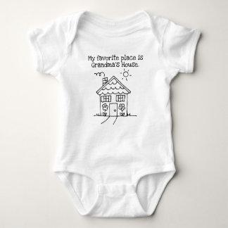 my favorite place is grandma's house baby bodysuit
