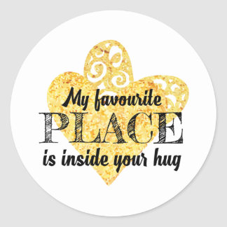 My favorite place round sticker