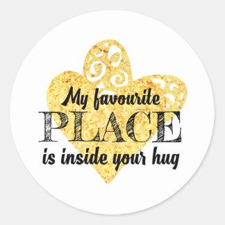 My favorite place round sticker