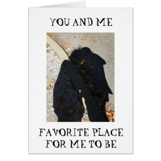 MY FAVORITE PLACE=YOU/ME FIRST ANNIVERSARY GREETING CARD