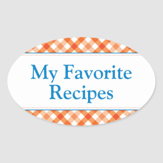 My Favorite Recipes Oval Sticker