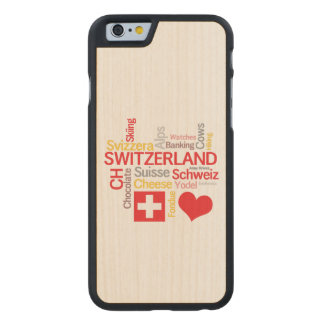 My Favorite Swiss Things Funny Carved Maple iPhone 6 Case