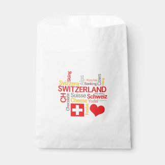 My Favorite Swiss Things Funny Favour Bag