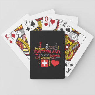 My Favorite Swiss Things Funny Playing Cards