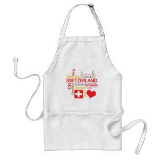 My Favorite Swiss Things Funny Standard Apron