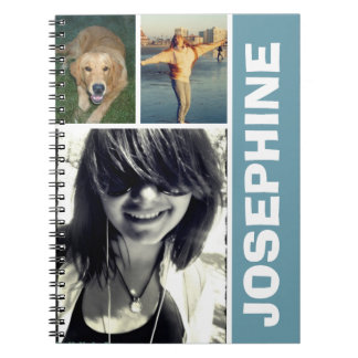 My favorite things blue photo collage journal