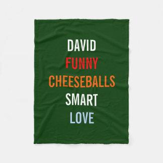 My Favorite Things Holiday Gift Fleece Blanket