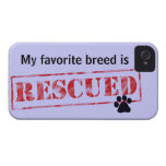 My Favourite Breed Is Rescued iPhone 4 Case