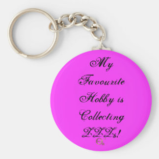 My Favourite Hobby is Collecting ZZZs! Basic Round Button Key Ring