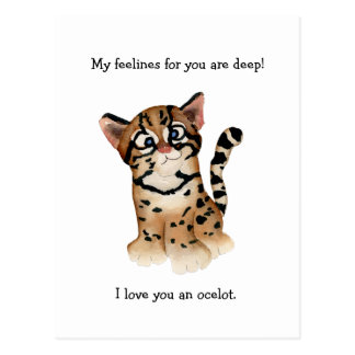 My Feelines Are Deep Ocelot Card