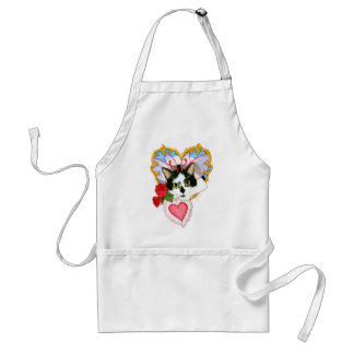 My Feline Valentine Fairy Cat Fantasy Art Apron