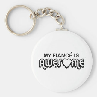 My Fiance is Awesome Basic Round Button Key Ring