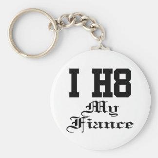 my fiance basic round button key ring