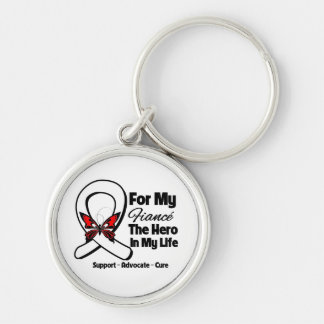 My Fiance - Lung Cancer Awareness Keychain
