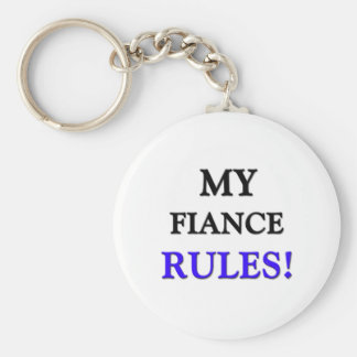 My Fiance Rules Basic Round Button Key Ring