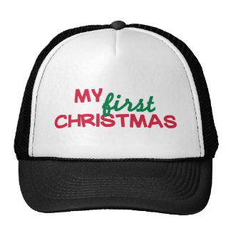 My first 1st christmas trucker hat