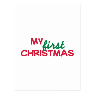 My first 1st christmas postcards