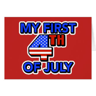 My First 4th of July Baby's Patriotic Card