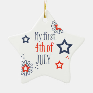 My first 4th of July Ceramic Star Decoration