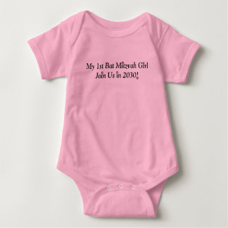 MY FIRST BAT MITZVAH GIRL 2030 PINK SWEET OUTFIT BABY BODYSUIT
