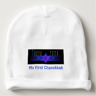 My First Chanukkah - Star Bar Menorah Baby Beanie