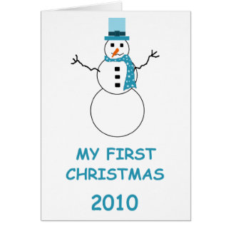 My First Christmas 2010 Greeting Card