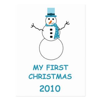 My First Christmas 2010 Postcard