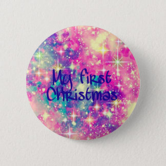 My first Christmas. 6 Cm Round Badge