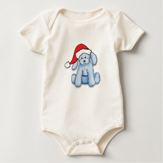 """My First Christmas"" baby bodysuit with cute puppy"