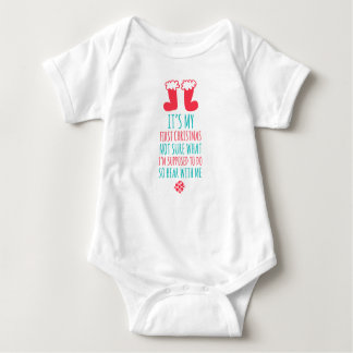 My First Christmas Baby Jersey Bodysuit