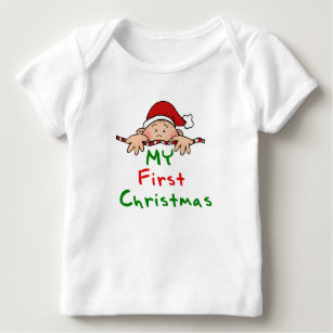 18bc5d932 First Christmas Baby Tops & T-Shirts | Zazzle.com.au