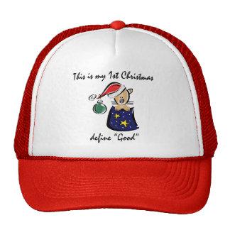 My First Christmas Mesh Hats