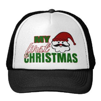 My First Christmas Trucker Hats