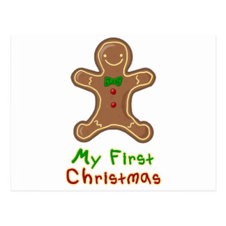 My First Christmas Gingerbread Man Postcard