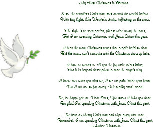 my first christmas in heaven dove holiday card
