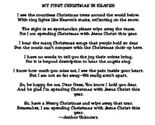 My First Christmas In Heaven.First Christmas In Heaven Gifts On Zazzle Au