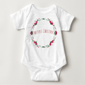 """My First Christmas"" One Peice For Baby Baby Bodysuit"