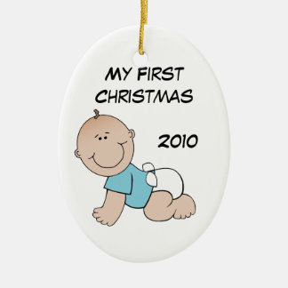 My First Christmas Oval Ornament