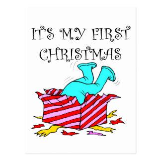 My First Christmas Postcard
