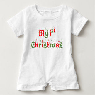 My First Christmas Romper Baby Bodysuit