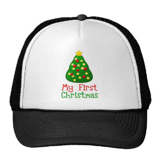 My First Christmas Tree Mesh Hat
