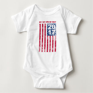 My First Fourth Of July 2017 One Piece Infant Baby Bodysuit