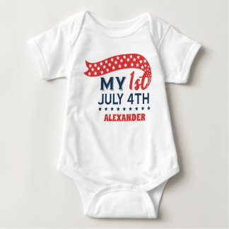 My First Fourth of July Personalized Baby Bodysuit