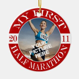 My First Half Marathon - 2011 Ceramic Ornament