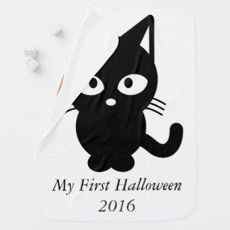 My first Halloween 2016 Cute cat kitty pumpkin Pramblankets