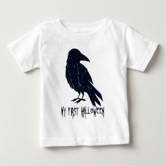 My First Halloween Black Crow Silhouette Baby T-Shirt