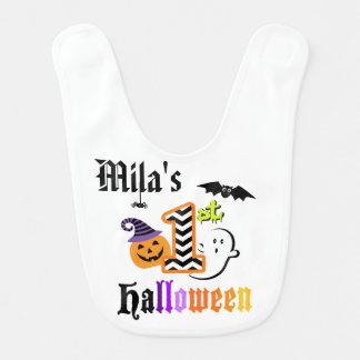 My First Halloween Personalized Bib