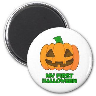 My First Halloween Pumpkin 6 Cm Round Magnet