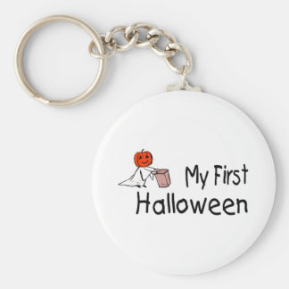 My First Halloween (Trick or Treat) Basic Round Button Key Ring